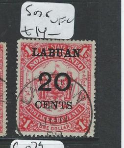 LABUAN (P2101B) 20C/$1.00   ARMS, LION  SG77   MOG