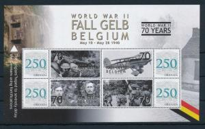 [81137] Grenada 2008 Second World war Fall Gelb Belgium Sheet MNH