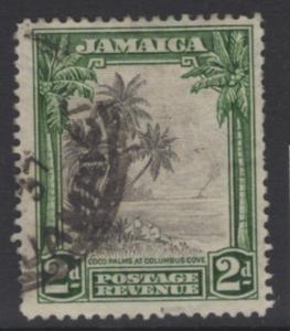 JAMAICA SG111 1932 2d BLACK & GREEN USED