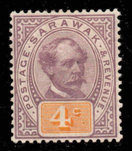Sarawak 1888  4c purple & yellow SG 11 mint