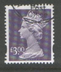 GB £3 Machin SGY1802 Scott #MH282 fine used
