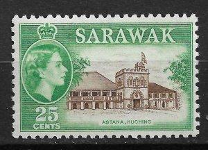 1957 Sarawak 206 Governor's Residence MNH
