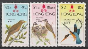HONG KONG 1975 BIRDS SET MNH **