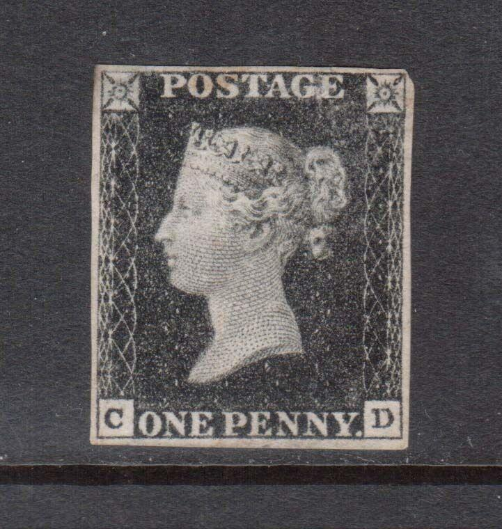 Great Britain #1 VF Mint **With Certificate**