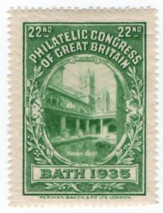 (I.B) Cinderella : 22nd Philatelic Congress (Bath 1935)