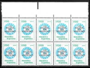 Argentina 1338 block of 10 mnh 2013 SCV $7.00 - 1456