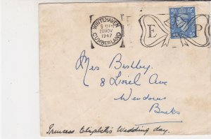 England 1947 Whitehaven Cumberland Cancel ER Slogan Stamp Cover to Bucks Rf34876