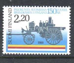 Finland Sc 774 1988 Turku Fire Brigade stamp mint NH