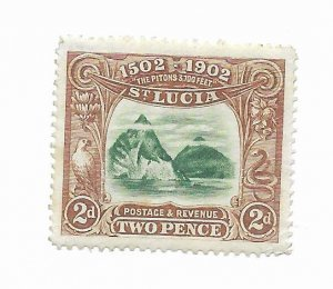 St. Lucia #49 MH - Stamp - CAT VALUE $12.00