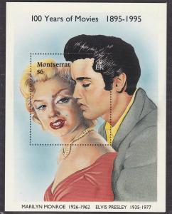 Montserrat # 861, Marilyn Monroe & Elvis Presley, NH, 1/3 Cat.