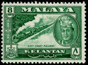 MALAYSIA - Kelantan SG100, 8c Myrtle Green, M MINT. Cat £20.