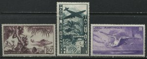 Martinique1947 set 50 to 200 francs mint o.g. hinged