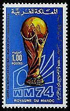 HERRICKSTAMP MOROCCO Sc.# 323A German Winner Ovpt Soccer FIFA