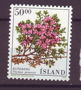J25444 JLstamps 1988 iceland hv of set mnh #664 flower