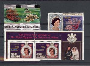 Cook Islands, 738-40, Surcharged Overprints Singles,**MNH**