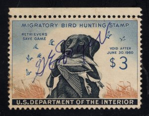 U.S. # RW26 Duck Stamp - $3.00 Multicolor - Signed but still has O.G.