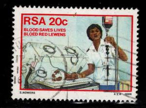South Africa Scott 665 Used Blood transfusion stamp