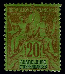 Guadeloupe Sc #36 Mint VF SCV$8.75...French colonies are in demand!