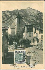 MAXIMUM CARD - ARCHITECTURE : ANDORRA 1950
