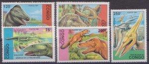 1993 Congo Brazzaville 1398-1402 Dinosaurs 13,00 €