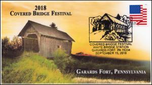 18-247, 2018, Covered Bridge Festival , Pictorial Postmark, Garards Fort PA,
