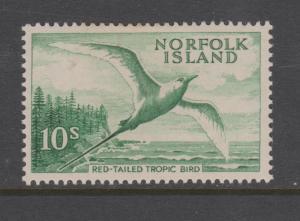 Norfolk Island 1961 10 Shillings Sc#41 MNH