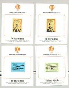Grenada Grenadines #282-289 Wright Brothers, Aviation 7v & 1v s/s imperf proofs