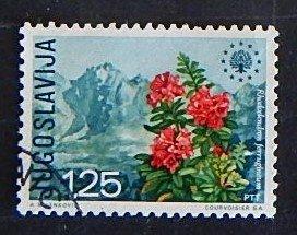 Yugoslavia, Flower, (№1569-Т)