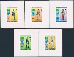 Mauritania 341-342,C160-C162 imperf,deluxe,C163 imperf,MNH. US-200,1976.Uniforms