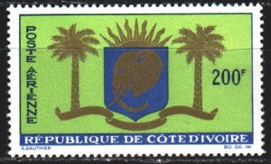 Ivory Coast. 1964. 268. Coat of arms of the Ivory Coast. MLH.