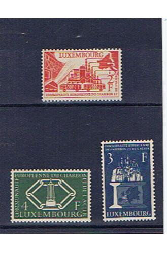 LUXEMBOURG 1956 COAL AND STEEL SET U/MINT