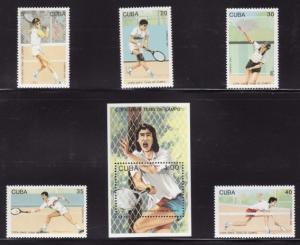 Cuba #3478-83 F-VF Mint NH ** Davis Cup