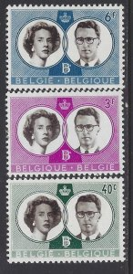 Belgium, Scott #560-562; King Baudouin and Queen Fabiola, MH