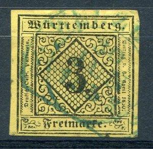 Wuerttemberg  Michel #2i   XF