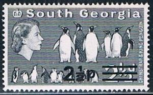 South Georgia 21b, 2.5p on 2.5d Chinstrap and King Pengui...