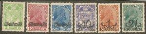 Liechtenstein   Scott 11-16  Overprints  Unused
