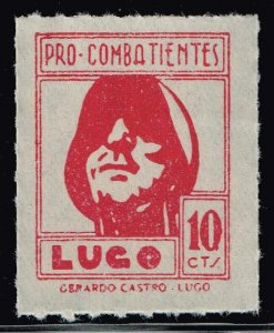 SPAIN STAMP SPAIN CIVIL WAR STAMPS LUGO 10c RED MNH
