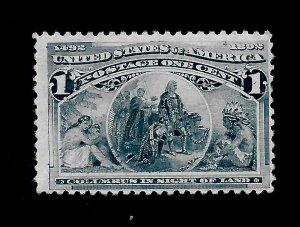 US 1893 Sc# 230 1 c  Fleet of Columbus Mint NH - Vivid Color