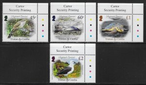 Tristan da Cunha 1165-68 Birds set MNH (lib)