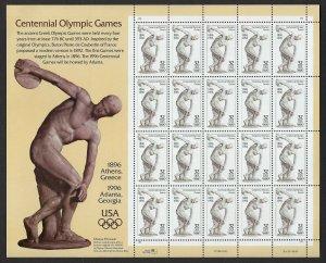 U.S.#3087 OLYMPIC CENTENNIAL  MINT, VF, NH   FULL SHEET @ FACE VALUE!