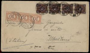 Germany 1923 Inflation Postage Due Cover General Delivery Milan Italy 72038