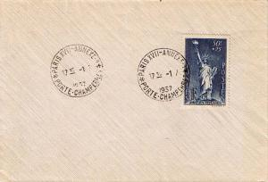 France 50c+25c Aid to Political Refugees Semi-Postal 1937 Paris XVII - Annexe...