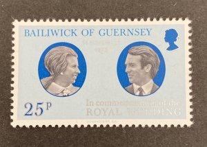 Guernsey 1973 #90, Royal Wedding, MNH