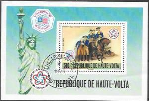 Upper Volta Souvenir Sheet C244 Surrender of Hessians to Washington