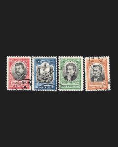VINTAGE: BOLIVIA 1909 USD LHR SCOTT # 78-81 $ 44 LOT # BOL1909B64