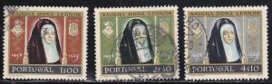 Portugal # 840, 842-843, Queen Leanor, Used, Third Cat