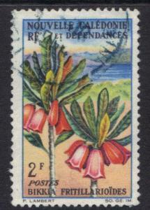 New Caledonia   1964  used flowers   2f     #