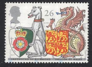 Great Britain  #1799  1998   used Queen`s beasts   26p