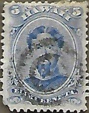 Hawaii #39 5c King Kamehameha V USED (1882)