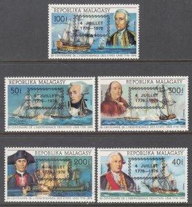 Madagascar 564-565,C164-C165 Sailing Ships MNH VF